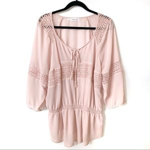 Maurices | Blush Cinched Boho Blouse